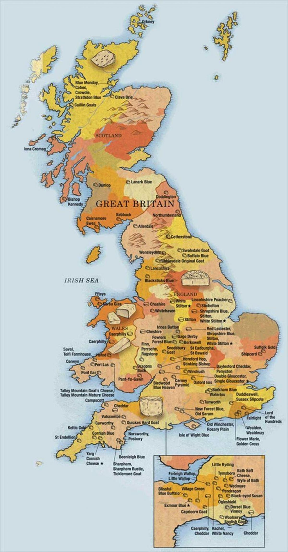 show me a map of Great Britain