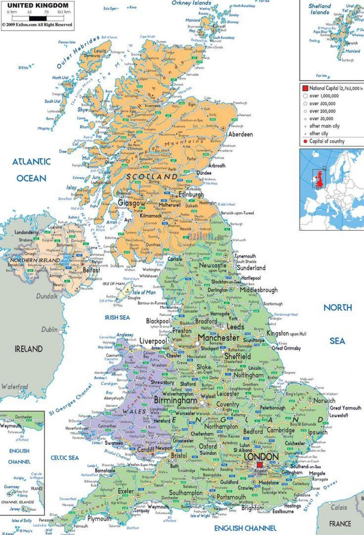 where is Britain on the map