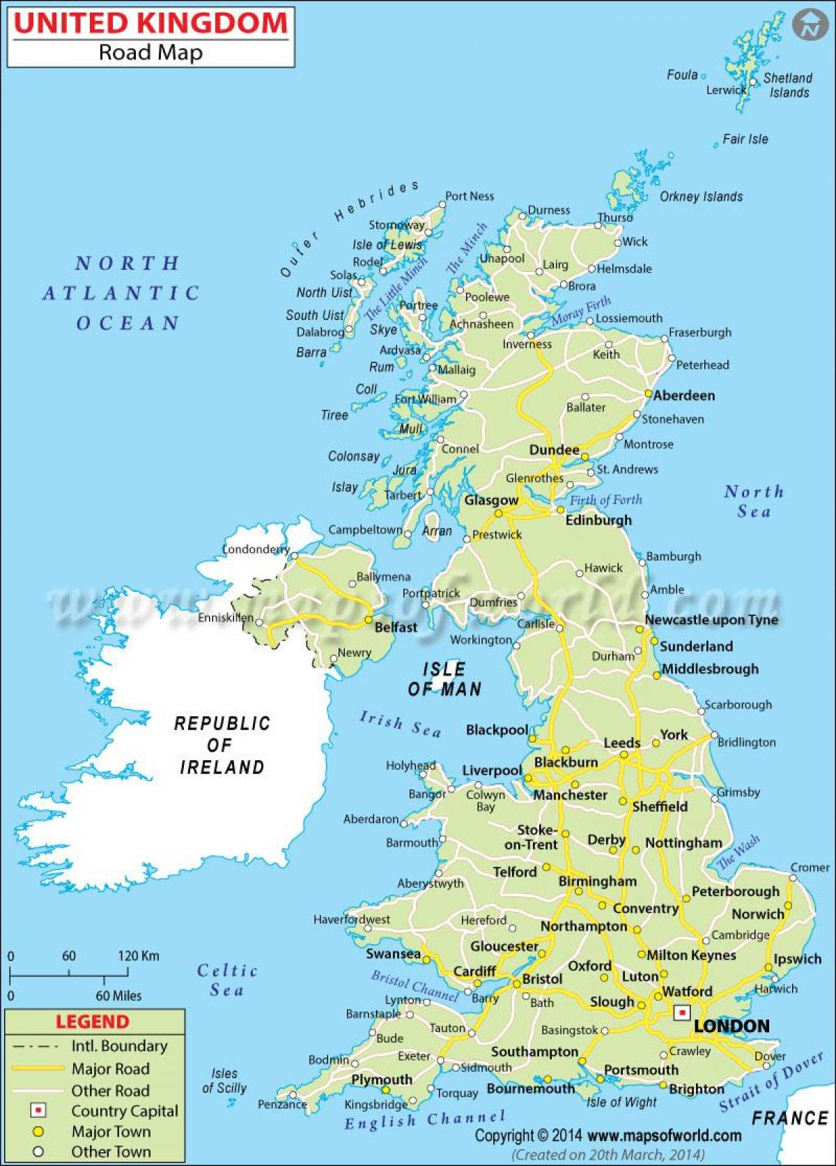 the United Kingdom map