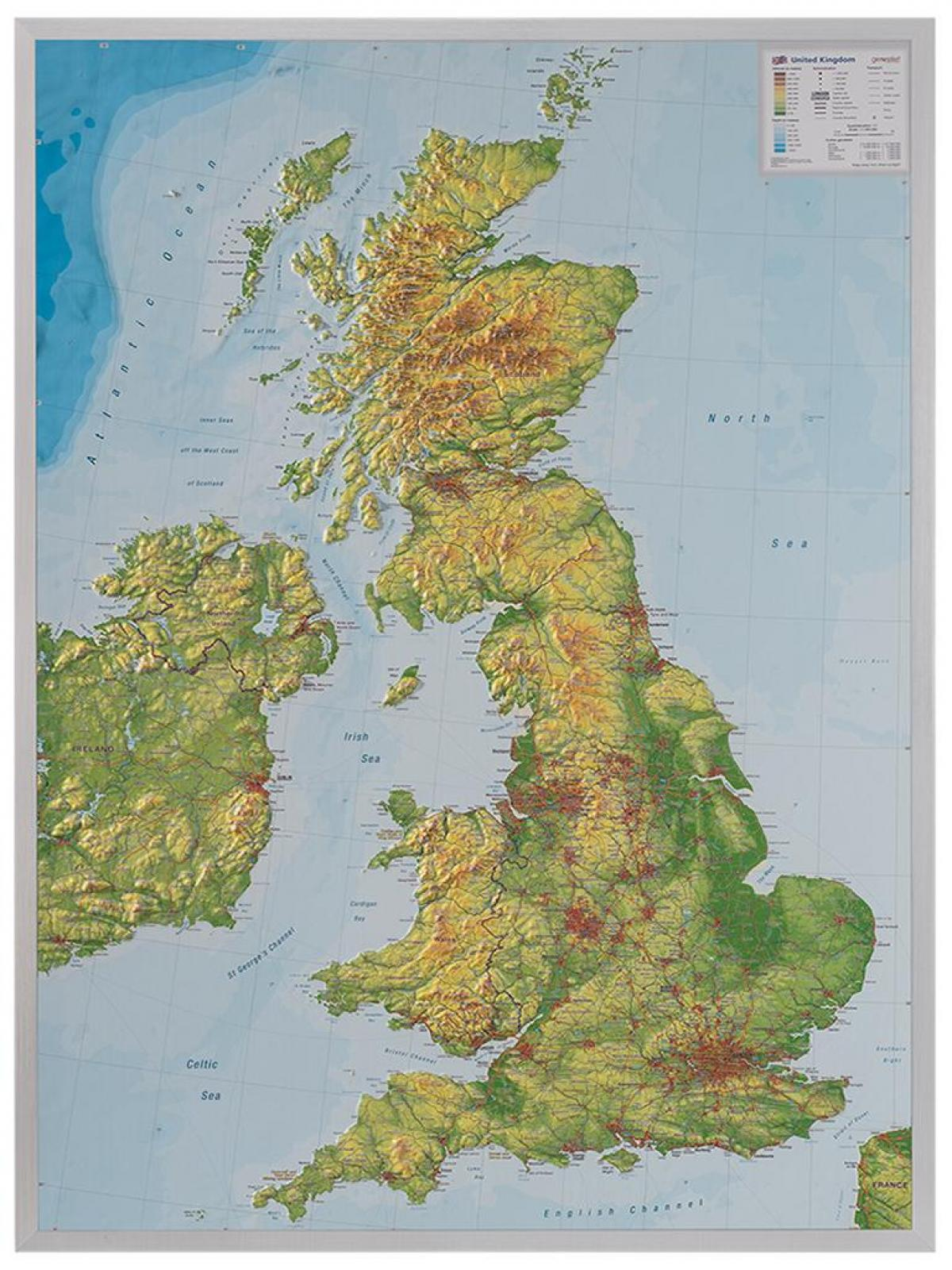 Terrain Map UK Map Of UK Terrain Northern Europe Europe - Terrain map uk