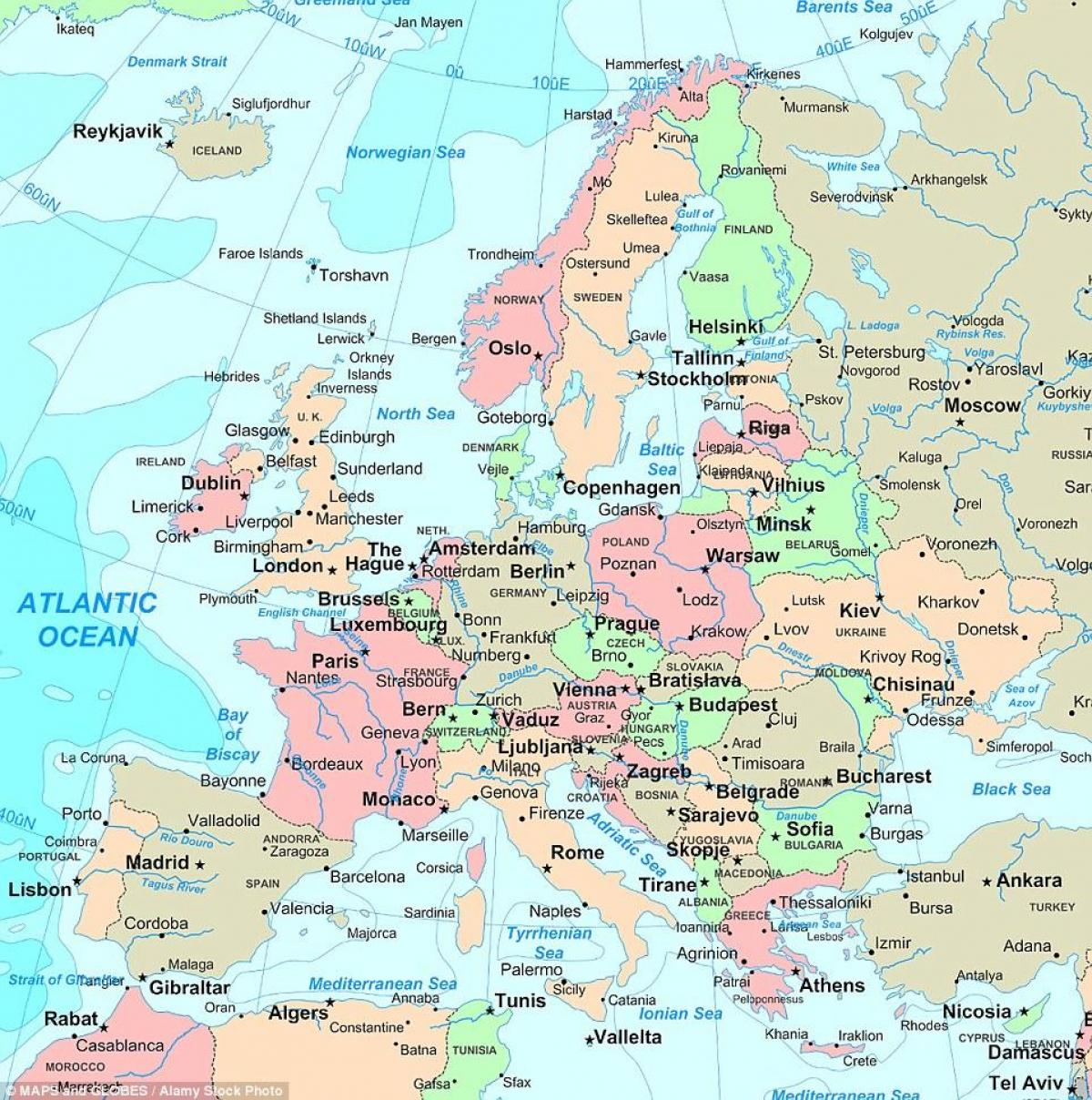 Map Of The Uk And Europe.Uk Europe Map Map Of Britain And Europe Northern Europe Europe