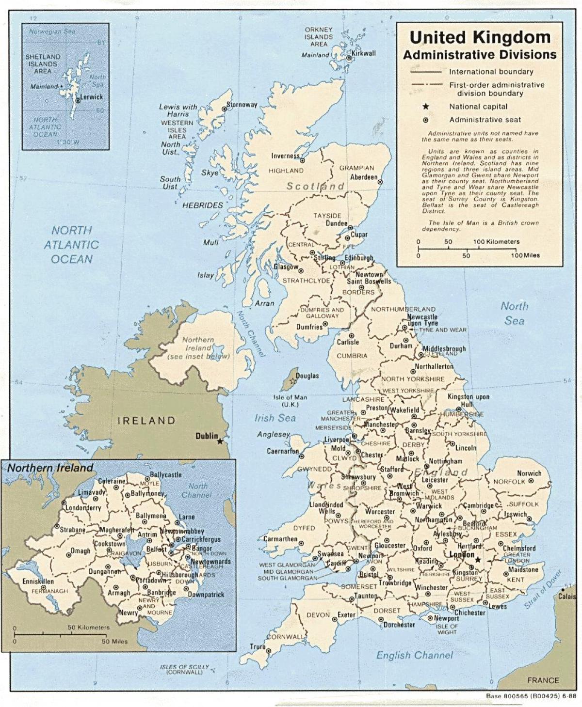 UK map pdf - Great Britain map pdf (Northern Europe - Europe)