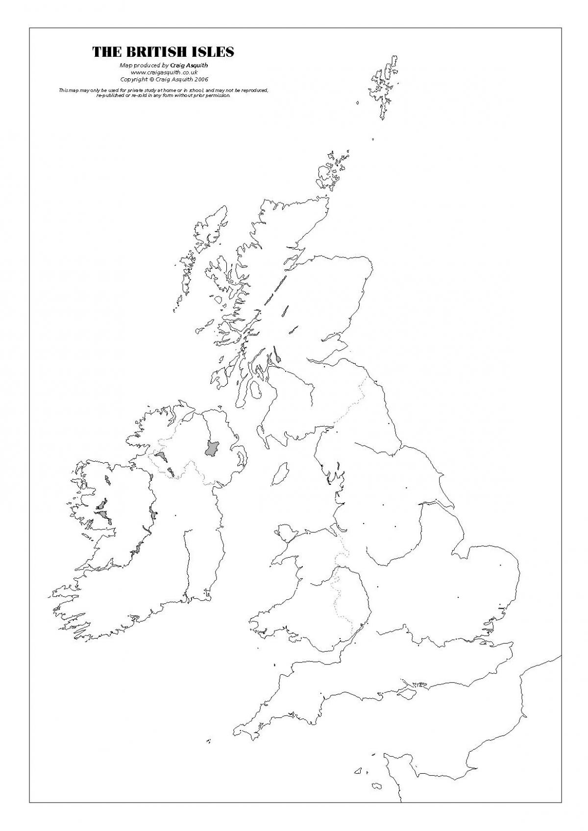UK map quiz - United Kingdom monument map (Northern Europe ...