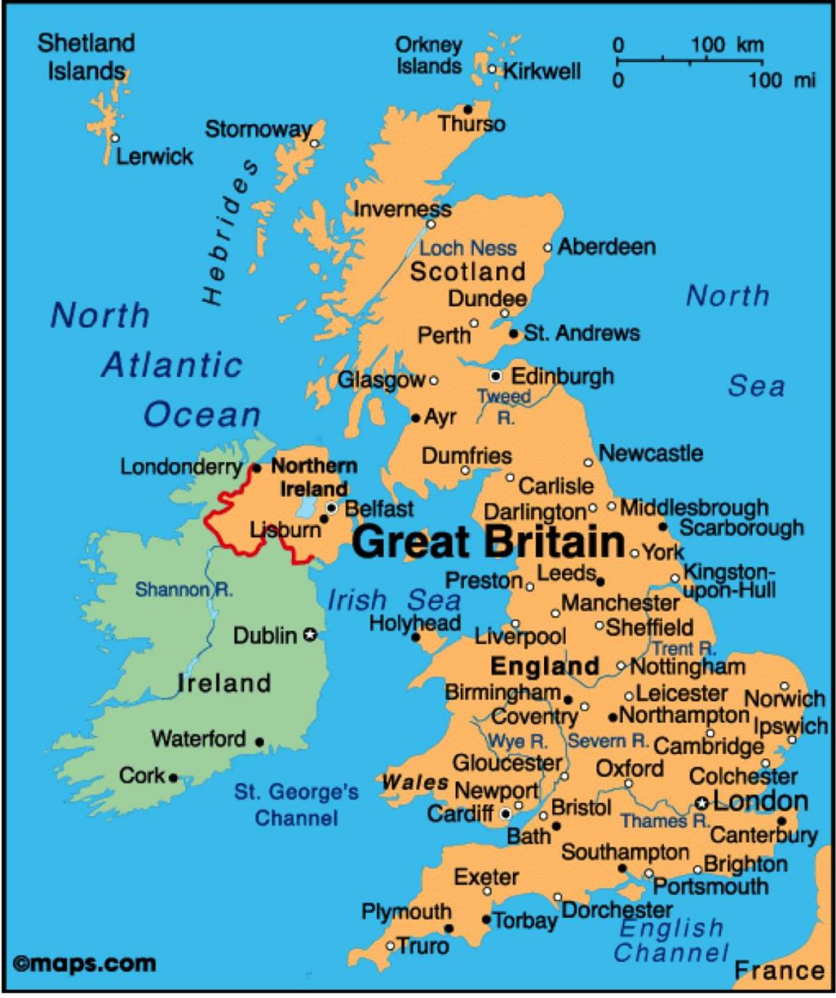 show map of UK