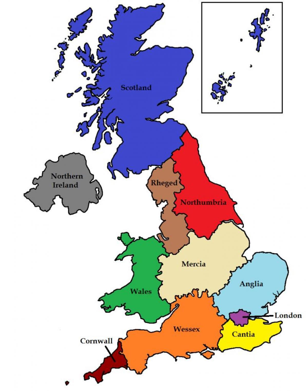 UK states map   Britain state map (Northern Europe   Europe)
