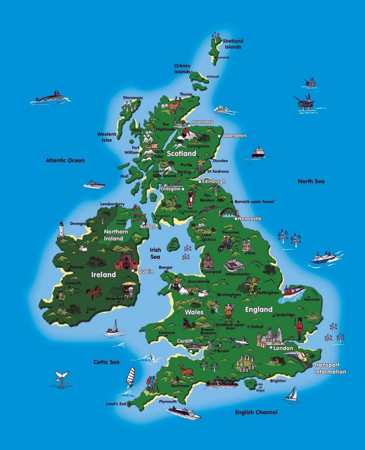 Uk Tourism Map Blank Map Of Uk Worksheet Northern Europe Europe