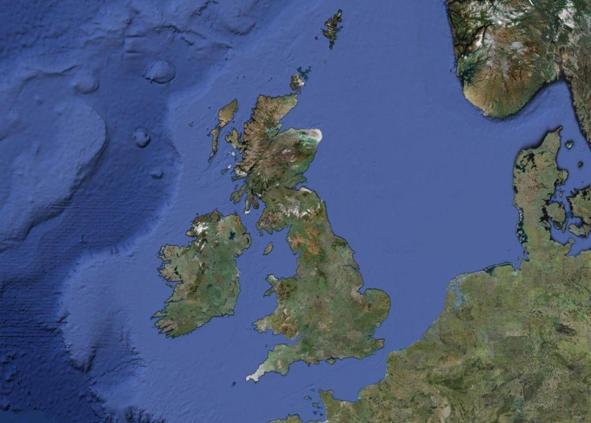 map of UK weather
