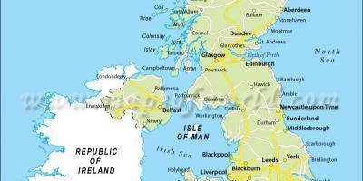 United Kingdom UK map Maps United Kingdom UK Northern Europe